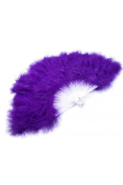 vějíř péřový fialový - bohatý