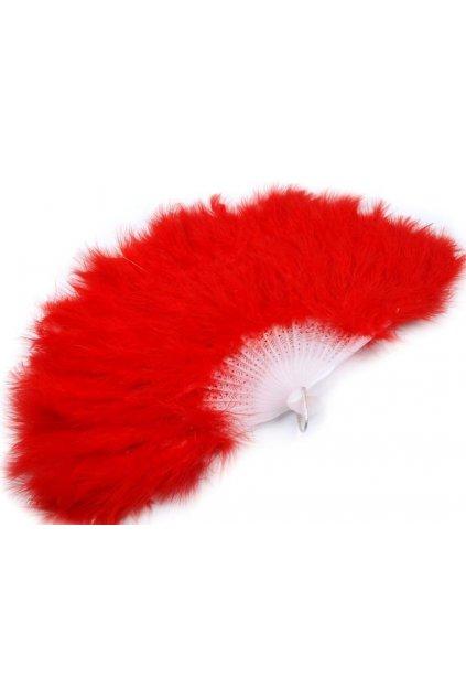 Červený velký vějíř péřový