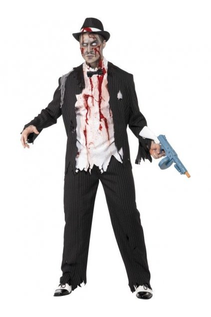 Halloweenský kostým Zombie gangster