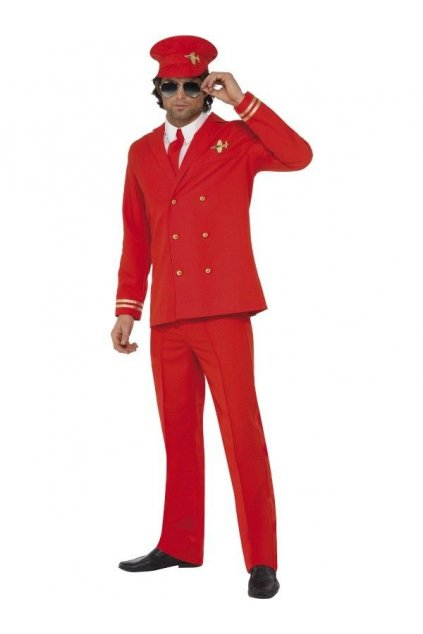 Kostým Pilot červený