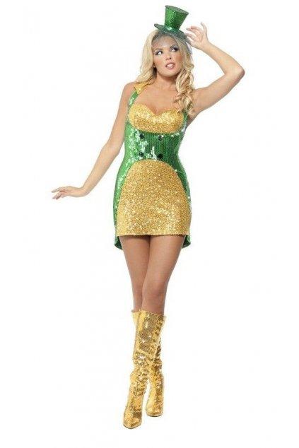 Dámský kostým zlatý