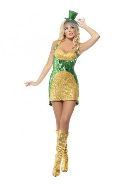 Zlaté třpytivé šaty