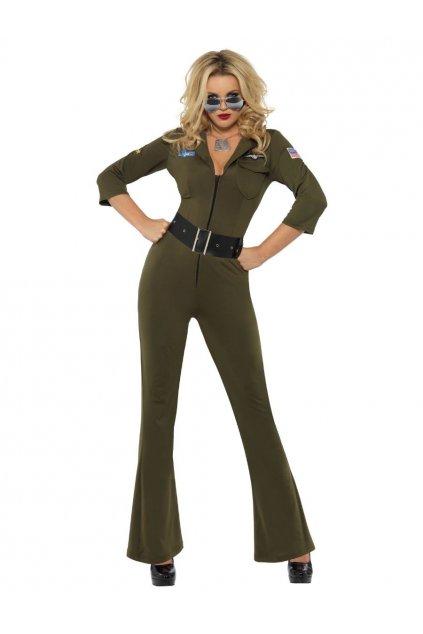 Top Gun pilot - dámský kostým uniforma