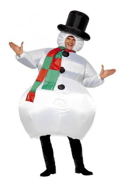 Kostým Sněhuláka nafukovací
