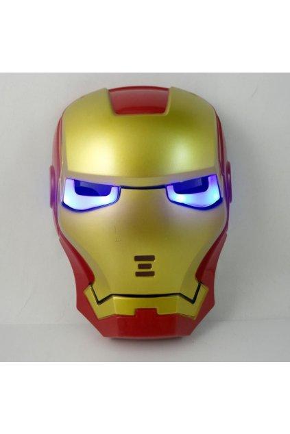Maska Iron man - svítící