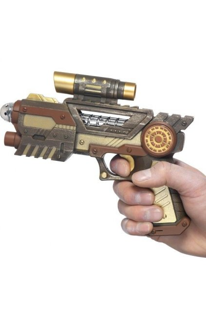 Futuristická zbraň Steampunk colt