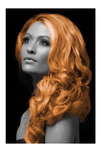 Oranžová barva na vlasy ve spreji