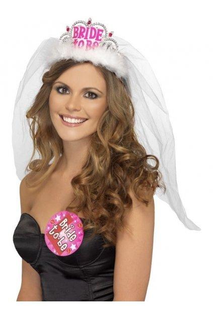 Čelenka se závojem pro nevěstu