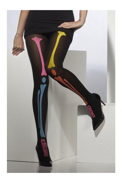 Černé punčocháče barevné kosti