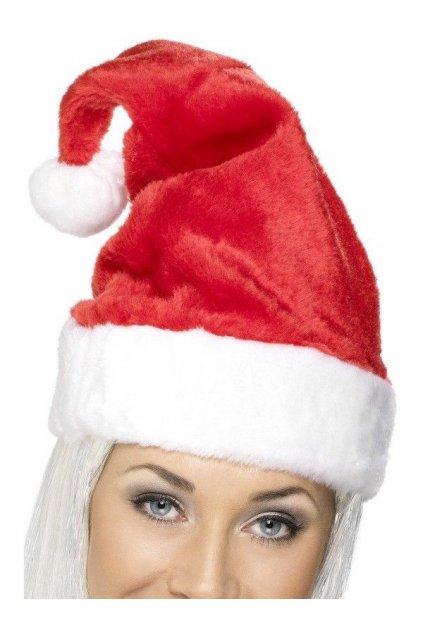 Čepice Santa - plyšová