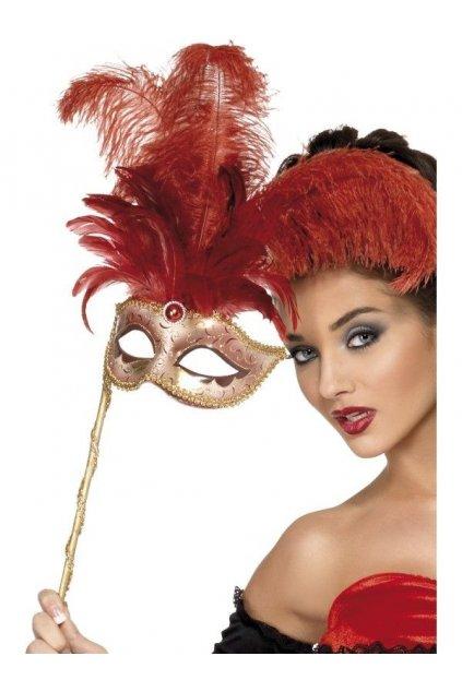 Barokní červená maska