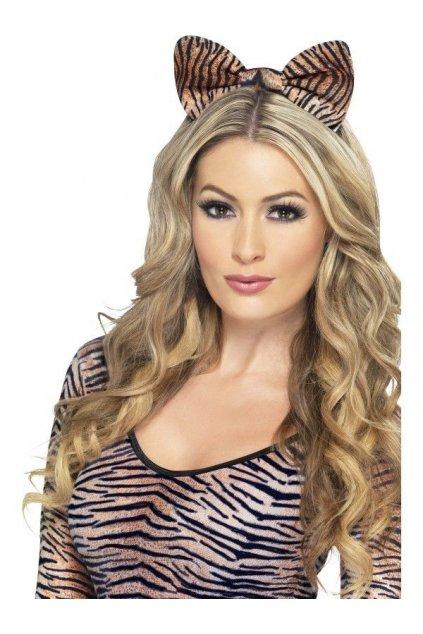 Tygří mašle na čelence