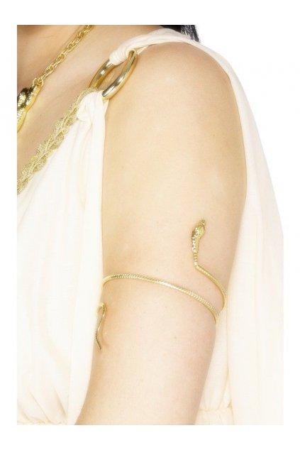 Egyptský náramek zlatá kobra