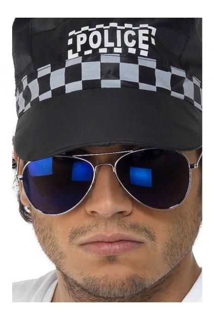 Policejní brýle - modré skla