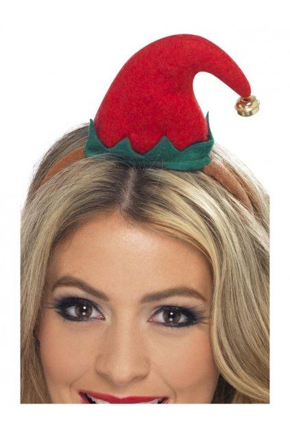 Vánoční čepička na čelence - Elf