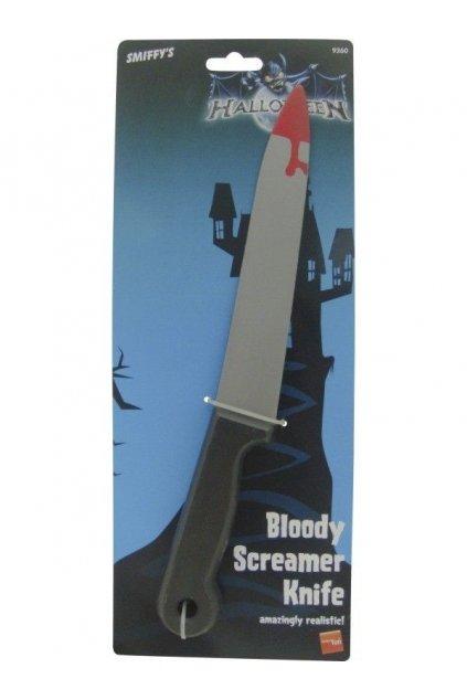 Nůž plastový krvavý - 30cm