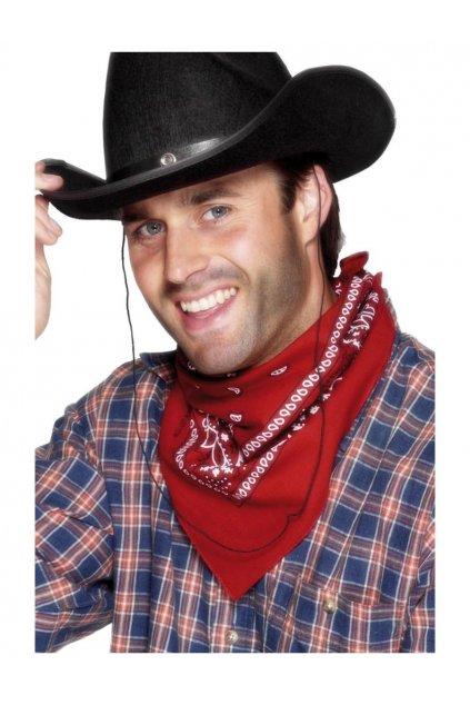 Kovbojský šátek červený