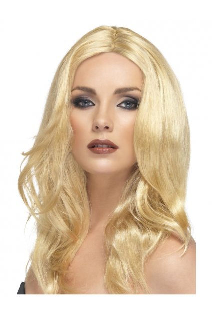 Blond paruka bez ofiny