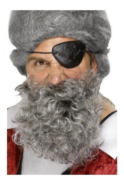 Šedý plnovous pro piráta