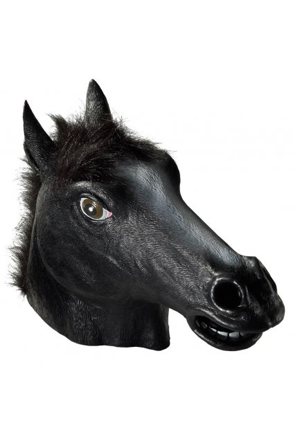 Maska koně hlava - černá