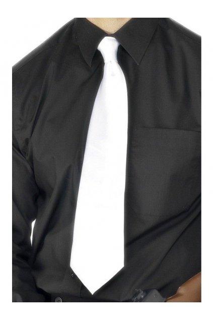 Bílá vázanka kravata