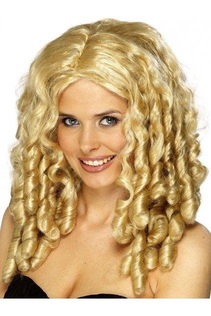 Dásmká blond paruka s loknama