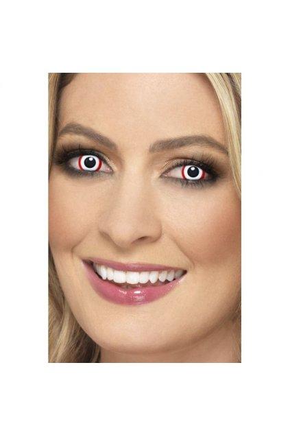 Bílé kontaktní čočky s červeným okrajem - Rim