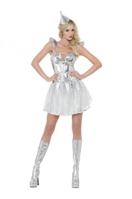 Sci-fi dámský kostým stříbrný