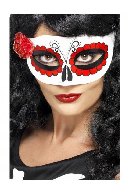 Mexická škraboška Muerte - Den mrtvých (Day of the Dead)