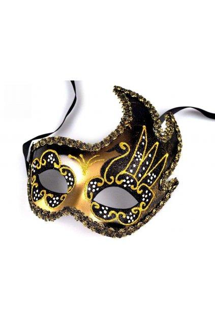 Černozlatá maska - benátská