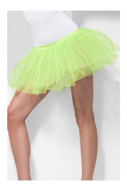 Neonově zelená spodnička
