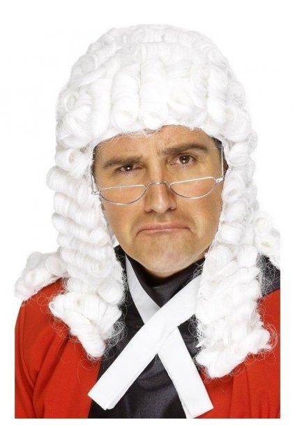 Paruka soudce - bílá