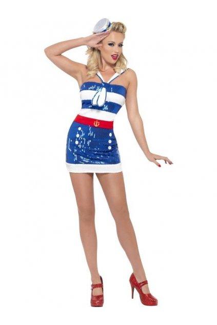 Flitrovaný kostým námořnice