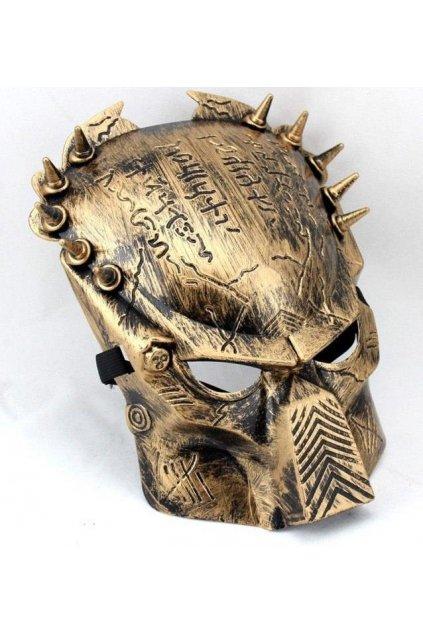 Maska Predátor zlatá