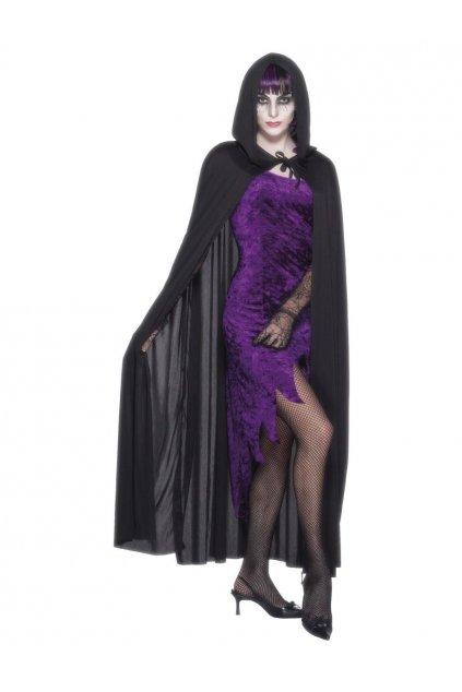 Černá kápě s kapucí