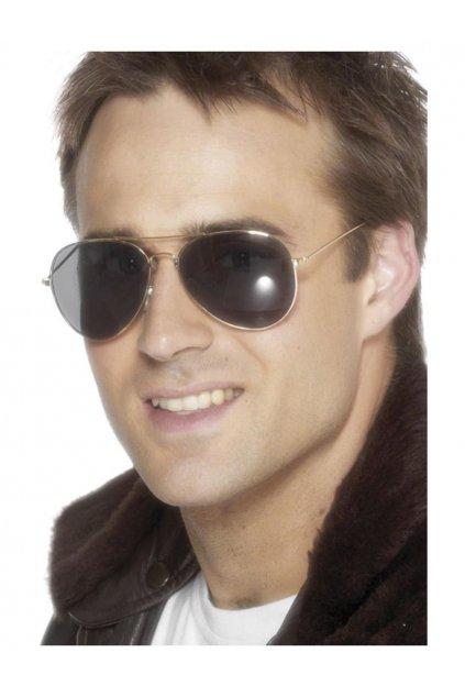 Brýle - Letec - zlaté obroučky