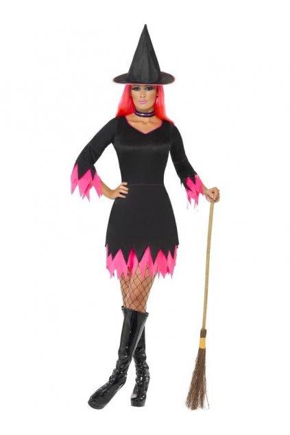 Kostým čarodějnice růžový