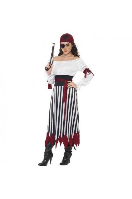 Kostým pirátka s šátkem