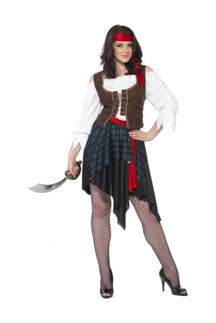 Levný kostým pro pirátku