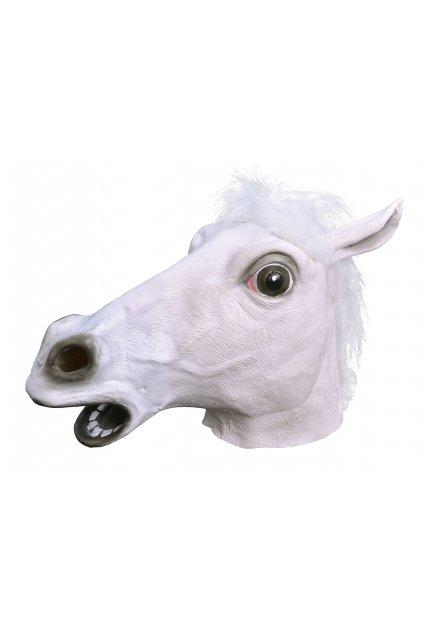 Maska koně - latexová maska bílý kůň