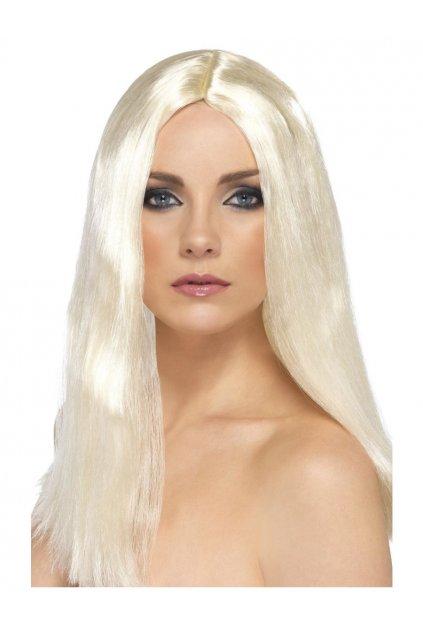 Dlouhá blond paruka bez ofiny