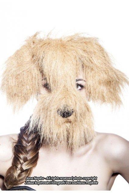 Maska pes - chlupatý