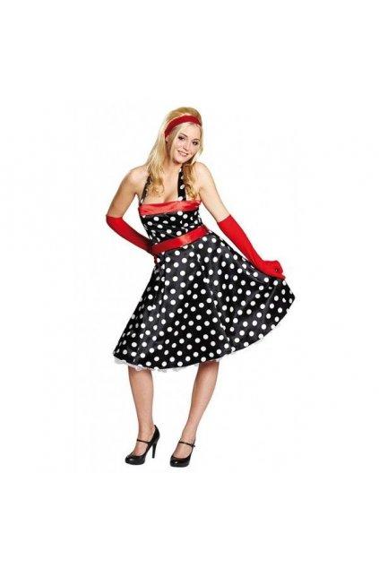 Puntíkaté šaty 50. léta - Polka DOT