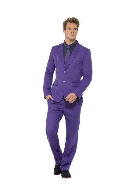 Fialový pánský oblek