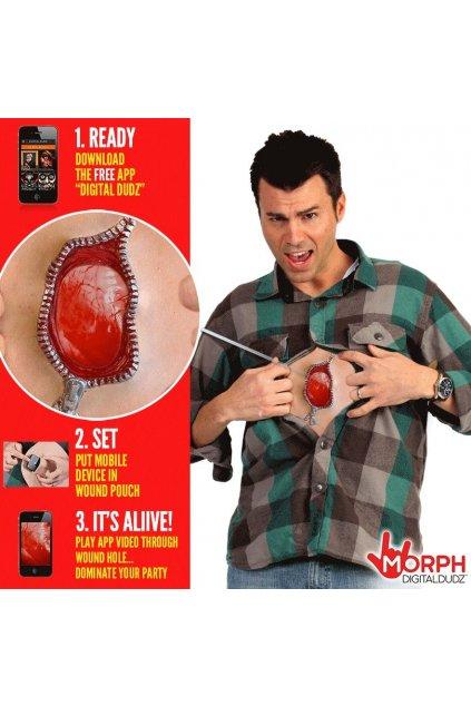 Bušící srdce zip - digitální kostým