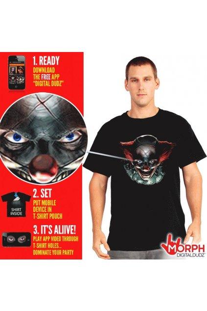 Šílený klaun - tričko - digitální kostým