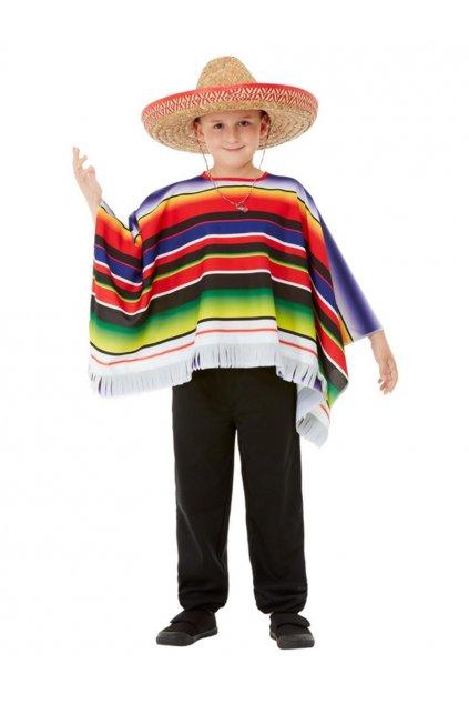 Dětský kostým mexické pončo