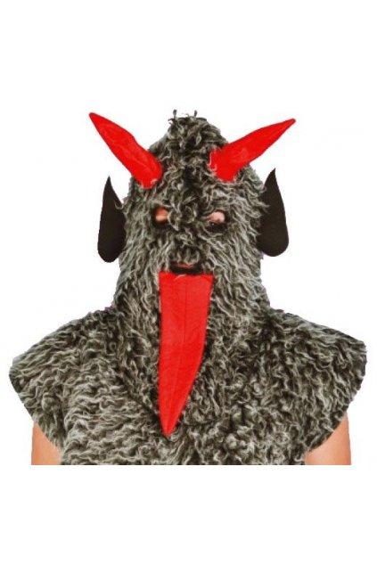 Čert - maska šedá