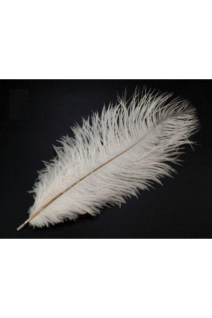 Pštrosí peří 25 cm - bílé