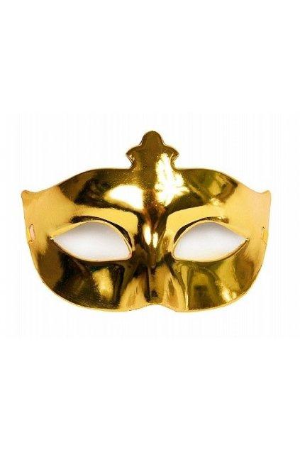 Levná maska - zlatá